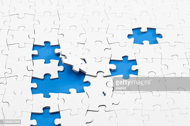 scattered jigsaw puzzle