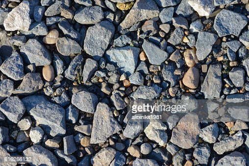 scattered on the ground stones : Stock Photo