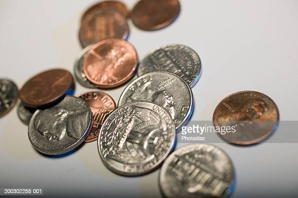 Scattered US coins