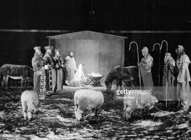 Scene A living nativity scene in front of the King of Glory Lutheran Church 10001 W 58th Ave in Arvada drew many spectators during the preChristmas...