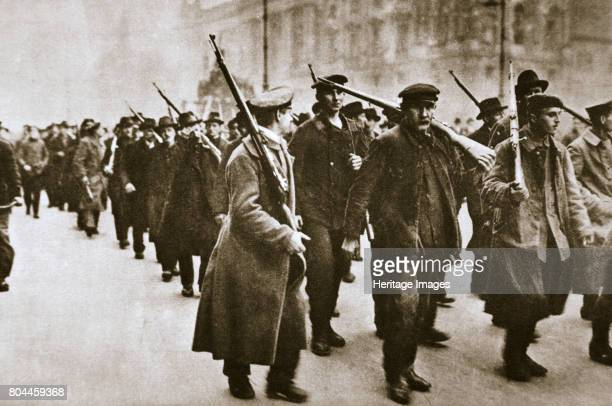 Scene during the German Revolution c1918c1919 Revolution broke out in Germany in November 1918 in the final days of the First World War leading to...