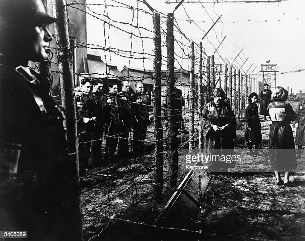 A scene from a film portraying a German concentration camp in the Second World War