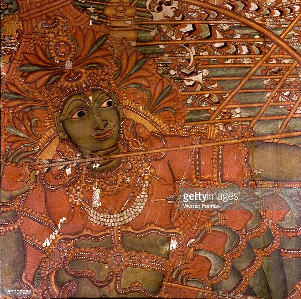 A scene from a wall painting in the Rajahs palace Cochin which illustrates scenes from the Ramayana India Hindu 17th century Cochin