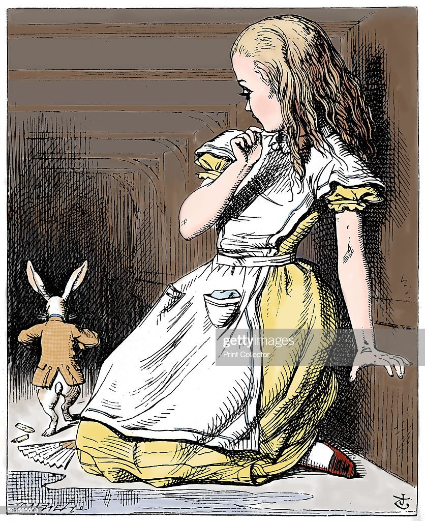 Scene from Alice's Adventures in Wonderland by Lewis Carroll, 1865 ...