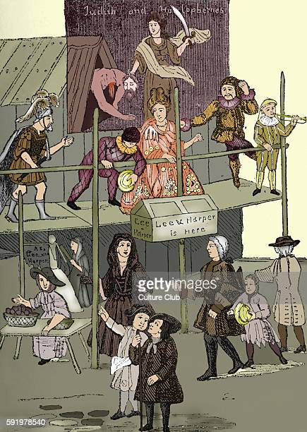 Scene from Bartholmew fair one of London's preeminent summer fairs in 1721