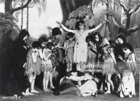 Scene from Christmas pantomime 1928