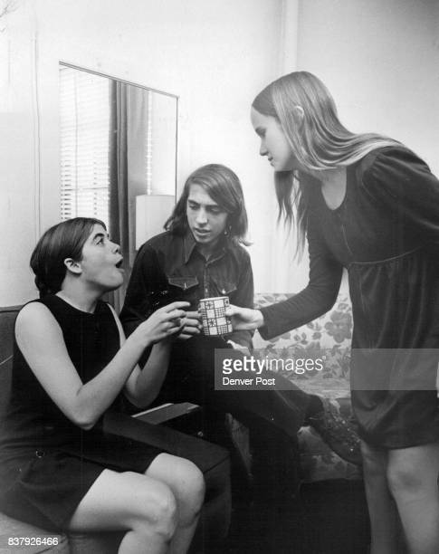 Scene From East High School Production Segment of 'Barefoot in the Park' represents the young married side of inner city life Players are from left...