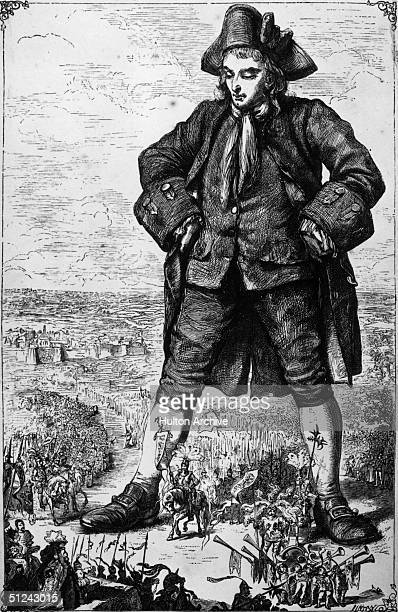 1726 A scene from Gulliver's Travels the satirical novel by Jonathan Swift