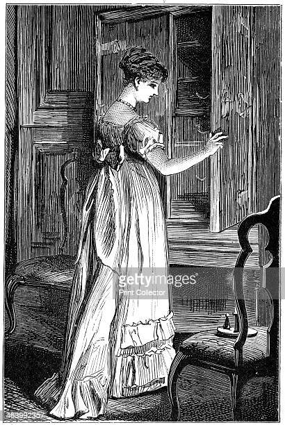 Scene from Jane Austen's Northanger Abbey A print from an edition of Jane Austen's Northanger Abbey and Persuasion