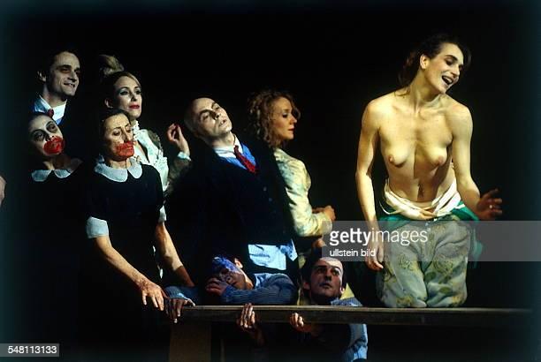 Scene from Johann Kresnik's 'choreographic play' 'Gastmahl der Liebe' with Simona Furiana in the Volksbühne Berlin direction and choreography Johann...