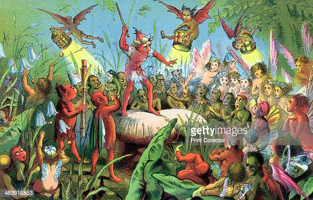 Scene from Shakespeare's A Midsummer Night's Dream c1858 The play was first performed c1596 In this scene Ariel stands on a toadstool conducting The...