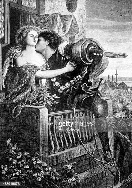 Scene from Shakespeare's Romeo and Juliet c1860s Act 3 scene 5 the lovers on the balcony Illustration for William Shakespeare's tragedy Romeo and...