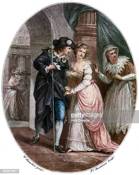 Scene from Shakespeare's Romeo and Juliet Illustration for William Shakespeare's tragedy Romeo and Juliet published in London June 15th 1785 The play...