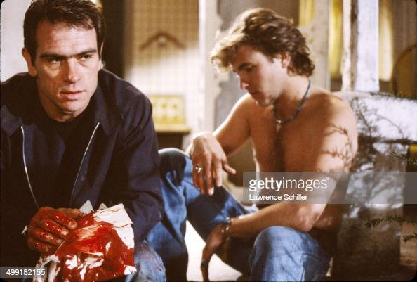 A scene from the madefortelevision movie 'The Executioner's Song' features American actor Tommy Lee Jones Utah 1981 Jones won the Emmy Award for...
