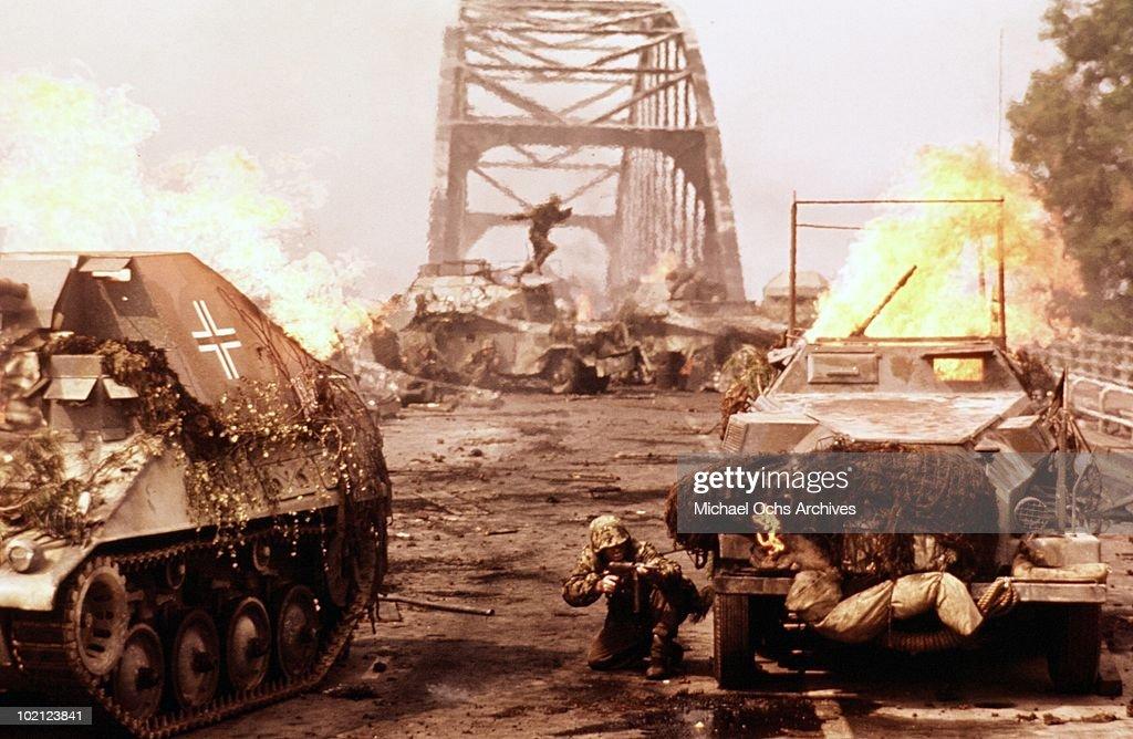 A scene from the movie 'A Bridge Too Far' in 1977.