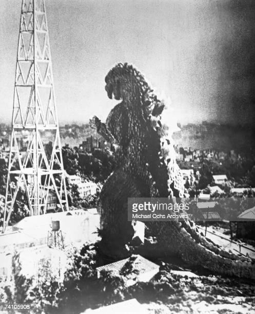 A scene from the movie 'Godzilla' directed by Ishiro Honda and Terry O Morse