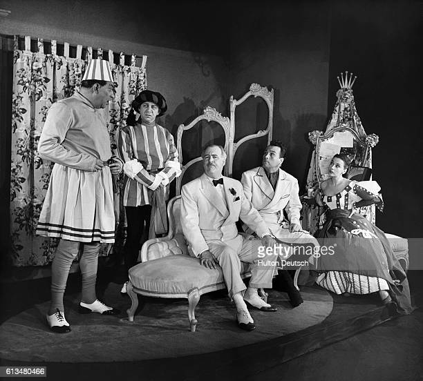 A scene from the musical comedy Kiss Me Kate based on Shakespeare's The Taming of the Shrew with music by Cole Porter