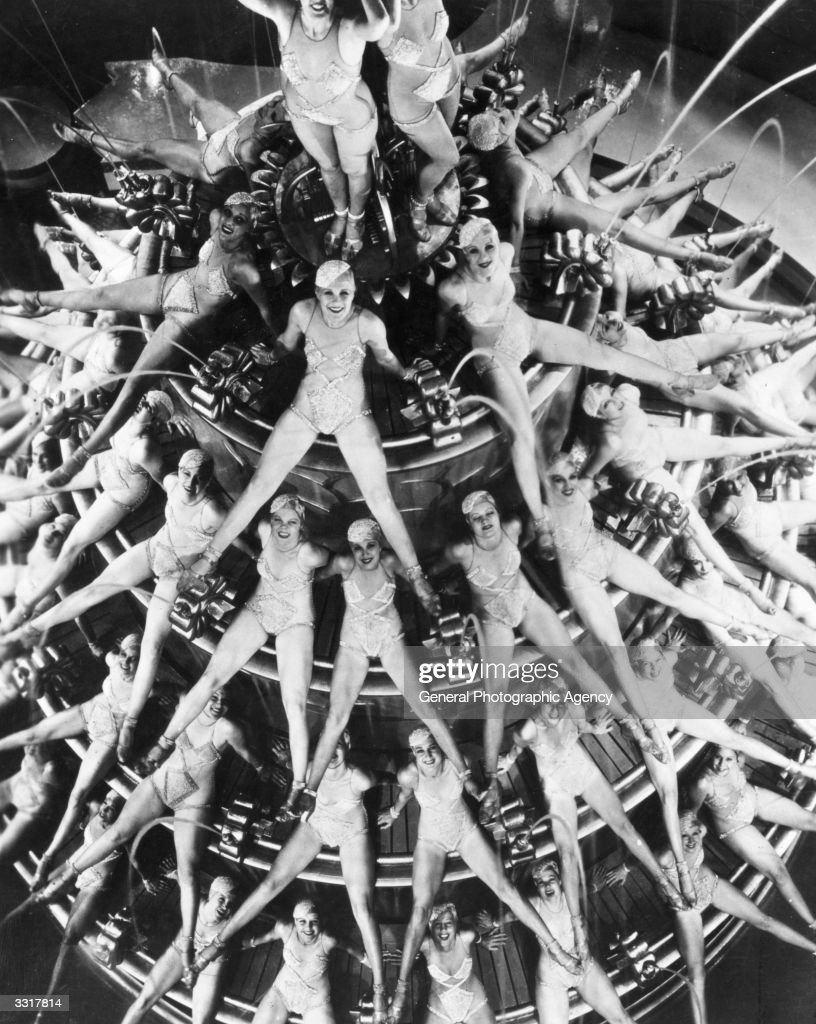 A scene from the musical 'Footlight Parade', choreographed by Busby Berkeley.