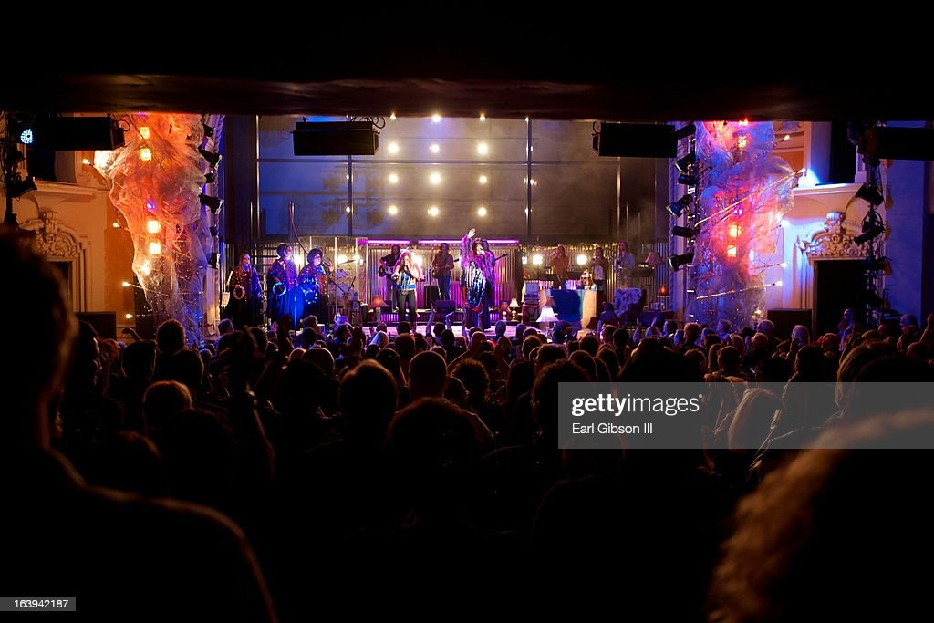Scene from the opening night performance of 'One Night With Janis Joplin' at Pasadena Playhouse on March 17, 2013 in Pasadena, California.