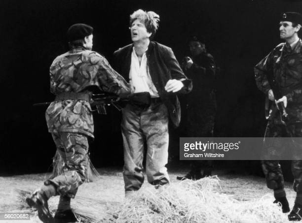 A scene from the play 'The Romans In Britain' by Howard Benton directed by Michael Bogdanov at the National Theatre London 16th October 1980 Stephen...