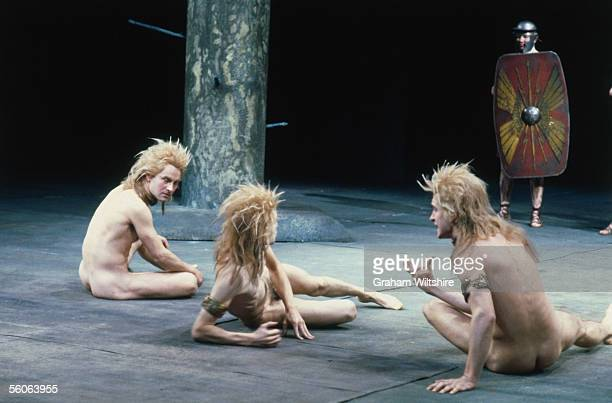 A scene from the play 'The Romans In Britain' by Howard Brenton directed by Michael Bogdanov at the National Theatre London 16th October 1980 These...