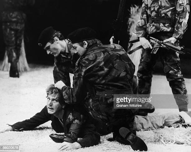 A scene from the play 'The Romans In Britain' by Howard Brentondirected by Michael Bogdanov at the National Theatre London 16th October 1980 Stephen...