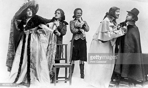 Scene from The Scarlet Pimpernel c1905 Julia Neilson Fred Terry Horace Hodges Malcolm Cherry and Alfred Kendrick The play set during the French...
