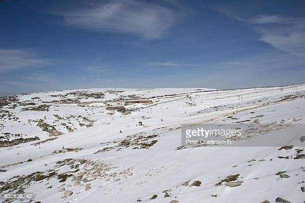 A scene from the ski resort at Torre on the Serra da Estrela mountain range The only ski resort in Portugal slopes from the highest point in the...