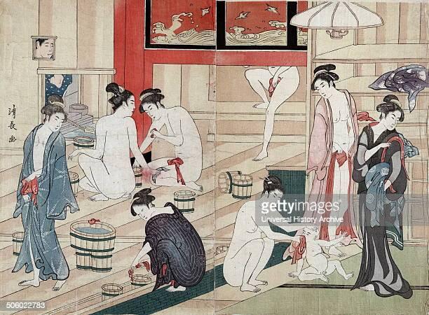 Scene in a public bathhouse where several women are bathing By Kiyonaga Torii 17521815 artist Photo by