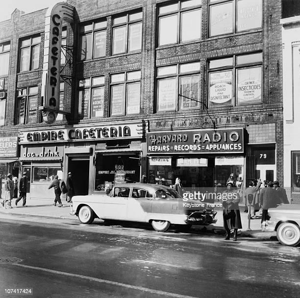Scene Of Life In Harlem At New York In UsaNorth America On 1956