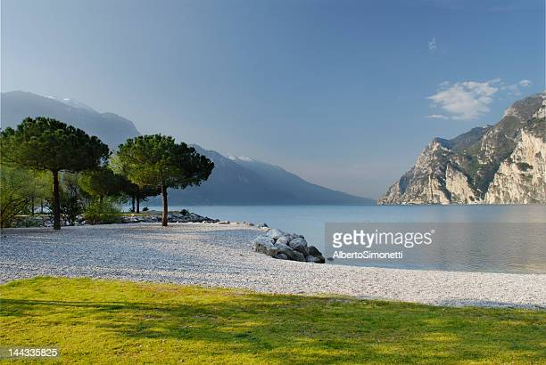Scene of Riva Del Garda featuring water and mountains