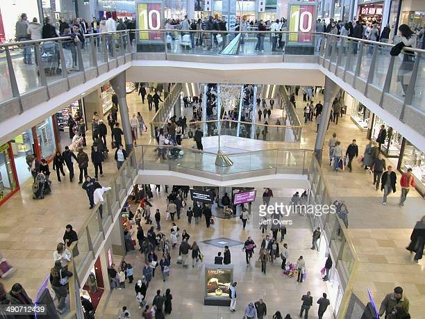 Scene shows shoppers in and around the Bullring shopping complex in Birmingham Built at a cost of over £500 million Bullring has over 26 football...
