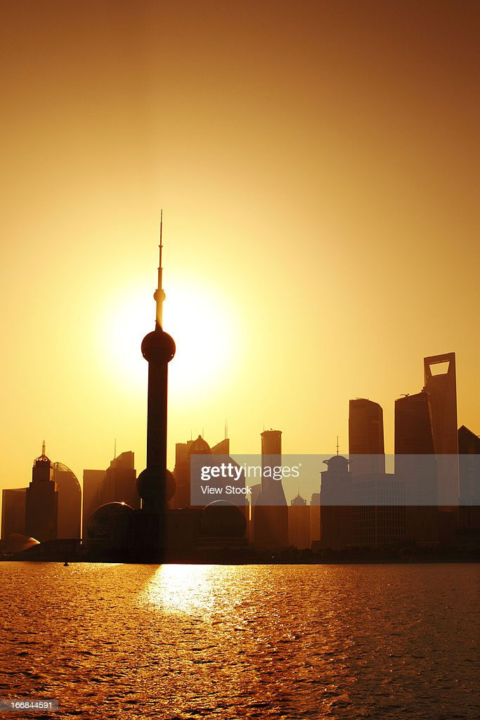 Scenery of city buildings in Shanghai,China