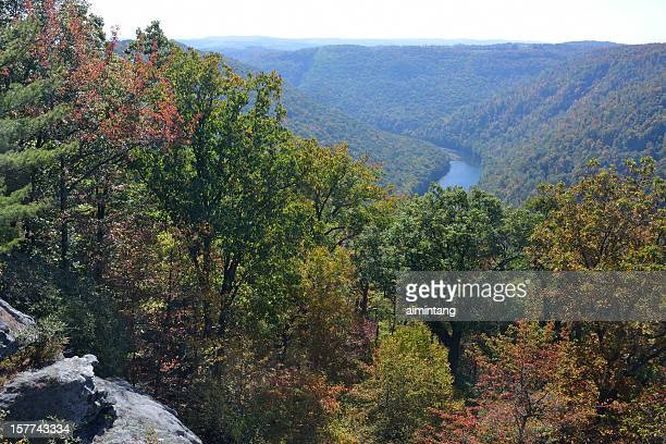 Scenery of Coopers Rock State Forest