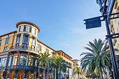 Scenery of the beautiful shopping avenue in San Jose, California