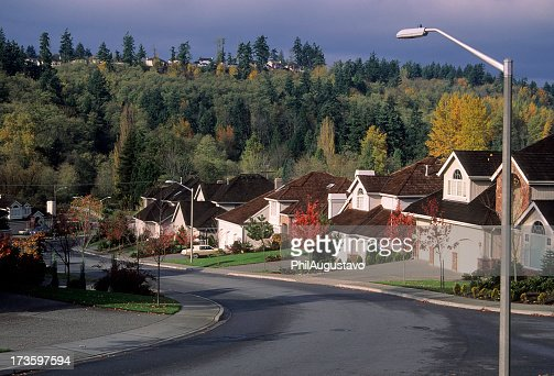 Scenery view of the beautiful suburbs