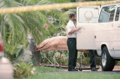 Scenes after the murder of Italian fashion designer Gianni Versace outside his Miami Beach home Florida 15th July 1997