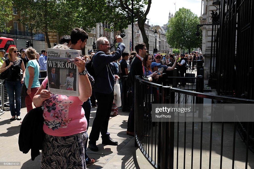 Scenes around Downing street, London, on 24 June 206, in the aftermath of 'Brext'