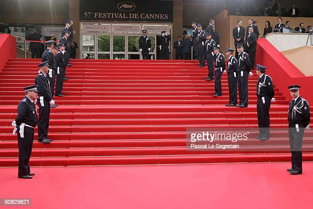 Scenes around the 57th Cannes Film Festival Opening Ceremony and screening of opening film 'La Mala Educacion' at the Grand Theatre Lumiere on May 12...