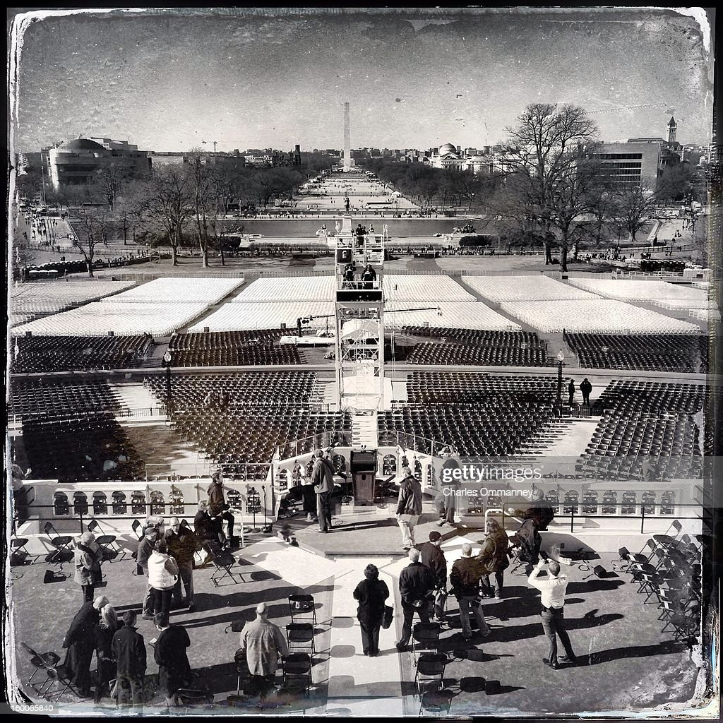 PROCESSED WITH INSTAGRAM - Scenes around Washington, DC as President Barack Obama takes the oath of office during the 57th Presidential Inauguration ceremonial swearing-in at the US Capitol on January 21, 2013 in Washington, DC.
