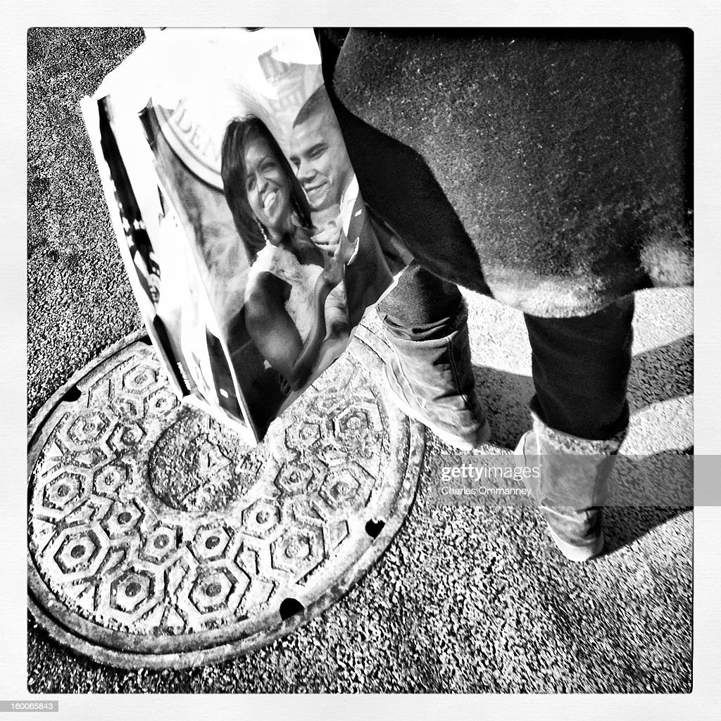 PROCESSED WITH INSTAGRAM - Scenes around Washington, DC as President <a gi-track='captionPersonalityLinkClicked' href=/galleries/search?phrase=Barack+Obama&family=editorial&specificpeople=203260 ng-click='$event.stopPropagation()'>Barack Obama</a> takes the oath of office during the 57th Presidential Inauguration ceremonial swearing-in at the US Capitol on January 21, 2013 in Washington, DC.