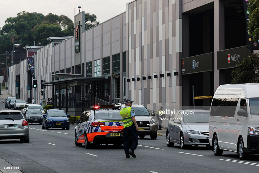 Scenes at Bankstown Central Shopping Centre on April 29, 2016 in Sydney, Australia. One man has been confirmed dead, with two others injured.