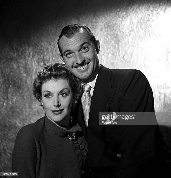 1951 Scenes from the film 'Dead on course' starring Zachary Scott and Kay Kendall