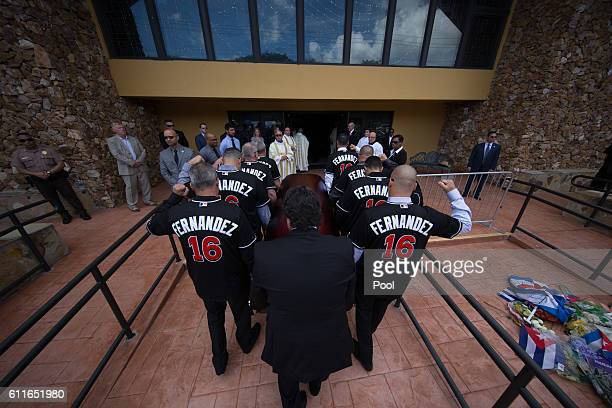 Scenes from the funeral for Jose Fernandez at St Brendanâs Catholic Church on September 29 2016 in Miami Florida