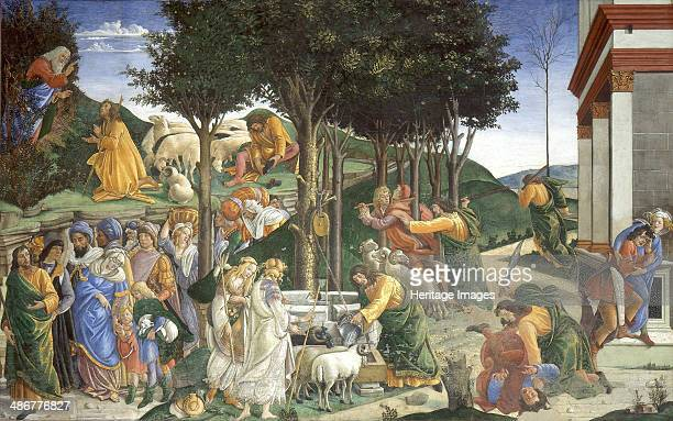 Scenes from the Life of Moses 14811482 Artist Botticelli Sandro