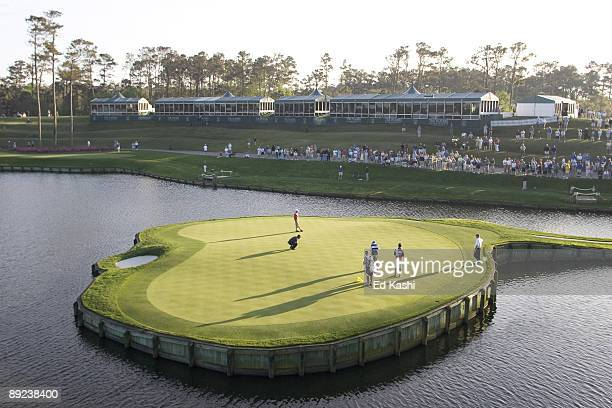 Scenes from The Players Championship a PGA tournament held annually at the Sawgrass Golf Club in Ponte Vedra Florida The infamous 17th Hole at...