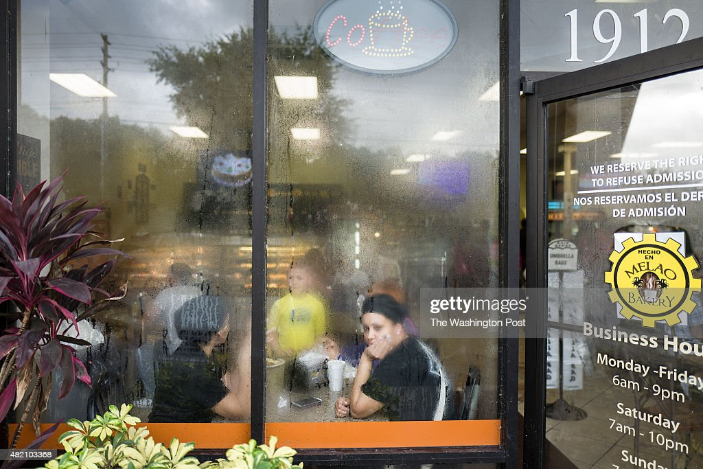 Scenes inside the Melao Bakery restaurant on July 25 2015 in Kissimmee FL The bakery is a gathering place for the local Puerto Rican community in...
