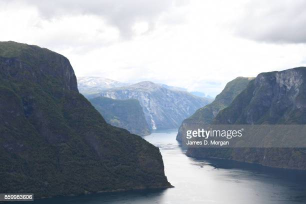 Scenes of Norway Fjord on an overcast day on February 8th 2017 in Norway