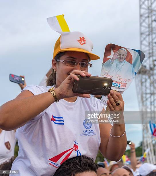 Scenes of Pope Francis to Havana specifically the historic Catholic Mass held in the Revolution Square Public filming the entrance of the Papa...