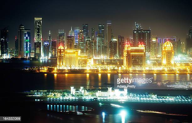Scenes of the Doha skyline after the international friendly match between Japan and Canada at Khalifa International Stadium on March 22 2013 in Doha...